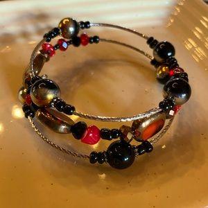 3/$25 Handmade memory wire bracelet